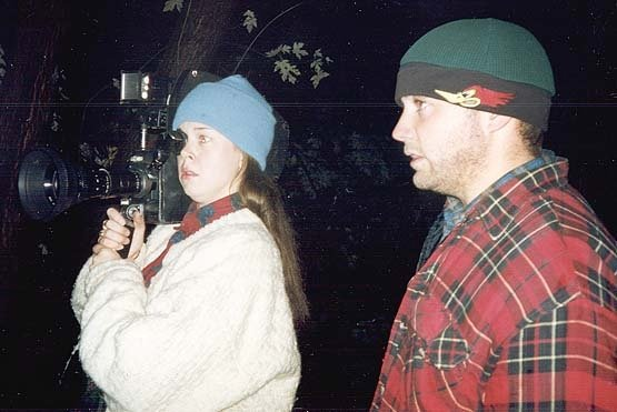 heather and mike on the blair witch set