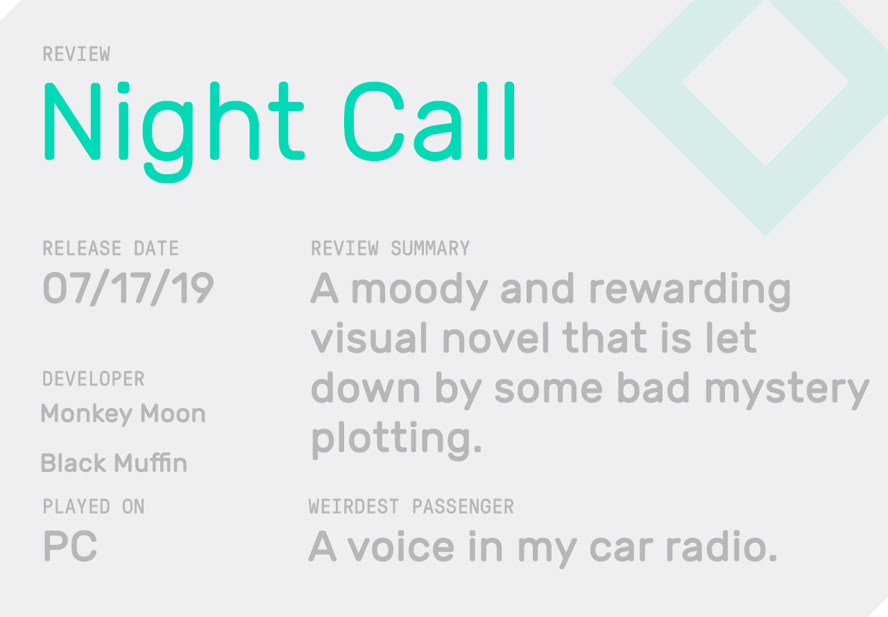 The review block for Night Call