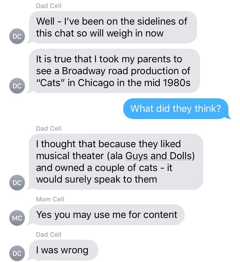 We Asked Our Parents What the Plot of \u0027Cats\u0027 Is , VICE
