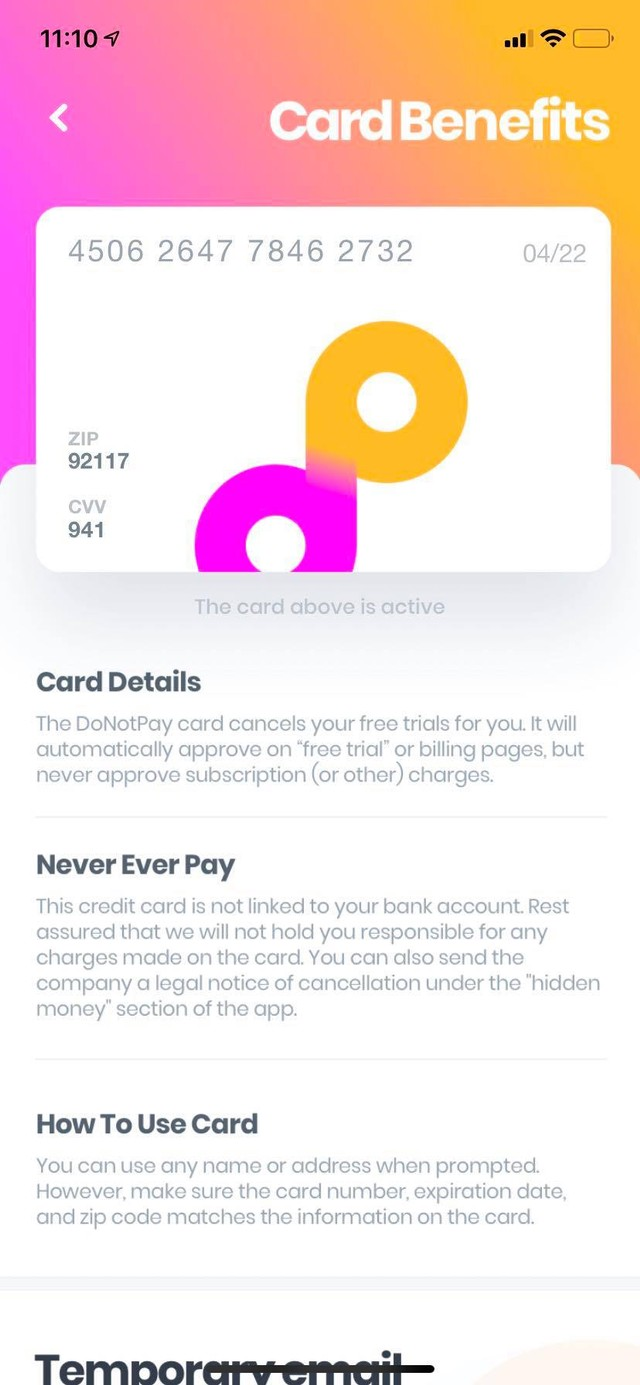 This App Uses a Burner Credit Card to Automatically Cancel