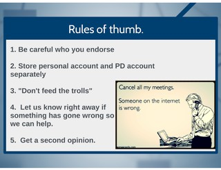 Twitter rules of thumb.