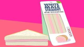 straight white sandwich