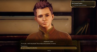 The Outer Worlds Insurance Agent