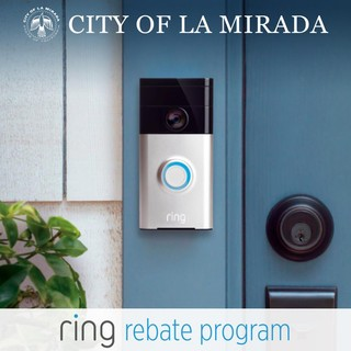 La Mirada, CA promotional image for its Ring rebate program.