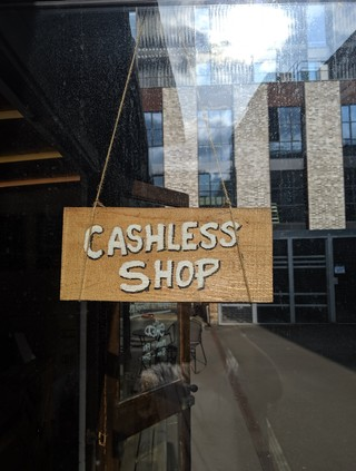 A cashless shop