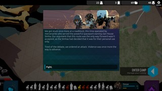 Screenshot from Nowhere Prophet, a dialog box from the game reads