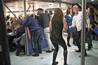 Oresund ferry passengers dancing
