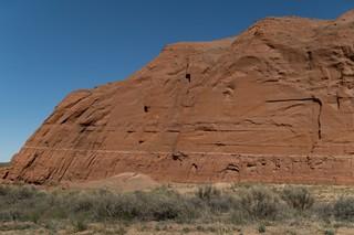 A rock face near Church Rock