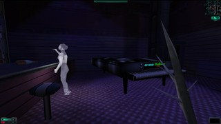 A ghost appears in System Shock 2, reenacting the past.