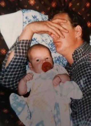 My dad and me. Photo courtesy of Jordan Foisy