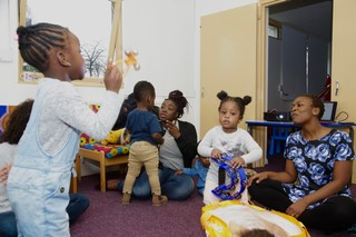 A toddler class in session at Culture Tree, Peckham