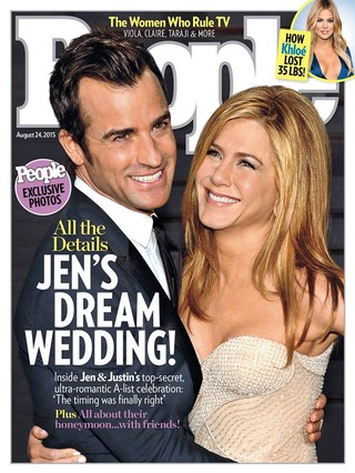 Jen and Justin's People magazine cover