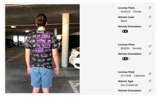 An example of adversarial fashion mimicking license plates