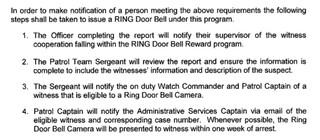"""Excerpt of the """"RING REWARD PROGRAM"""" document obtained by Motherboard"""