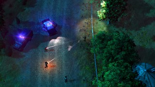 A nighttime gunbattle in American fugitive