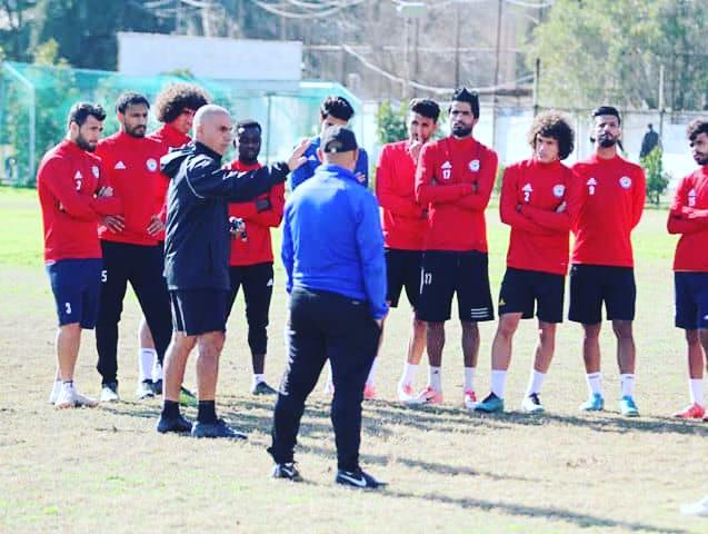 Shadrach Eghan op de training van Al Zawraa.