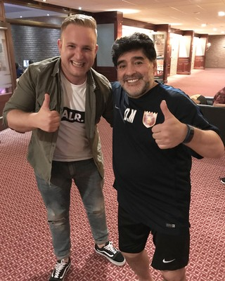 Michael Joustra met Diego Maradona