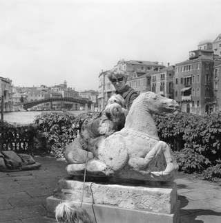 Peggy Guggenheim with dogs