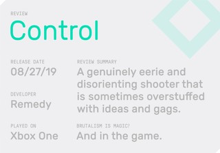 The summary box for Vice Waypoint's Control review by Rob Zacny