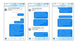 Screenshots von Chat-Nachrichten