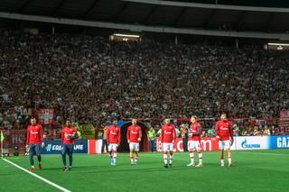 igrači crvene zvezde na utakmici sa jang bojsom