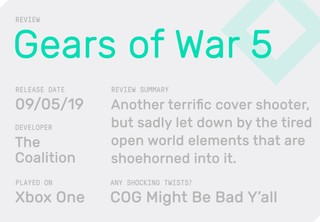 The review summary of Gears of War 5, telling you if the game is any good