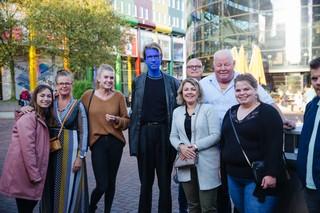 blue man group blauw geschminkt concertgangers