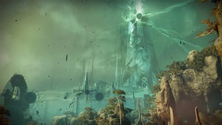 The Dreaming City, a high fantasy white tower with dark streaks and blister like orbs of corruption all over it.