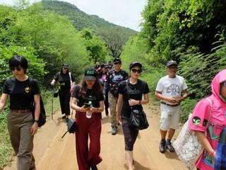 Walking up to the peak of Khao Kala mountain.