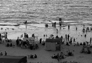 locals play on the gaza beach