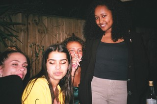 Group of girl friends smoking