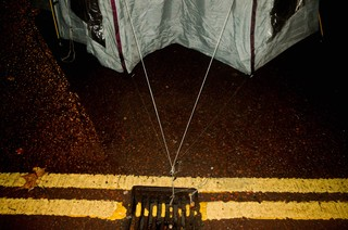 pitch tent on concrete
