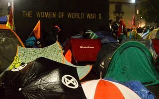 extinction rebellion tents