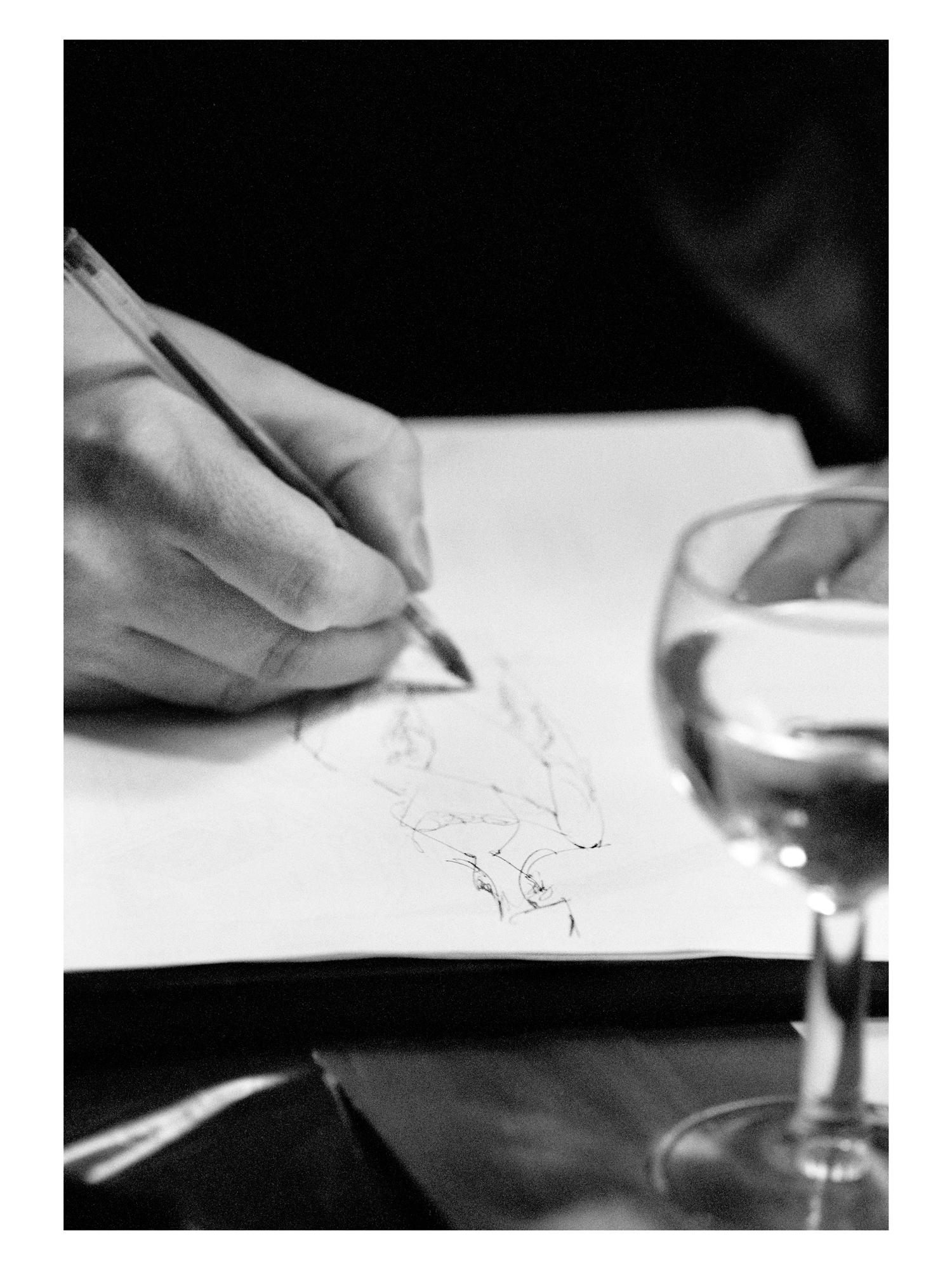 Alexander McQueen sketching