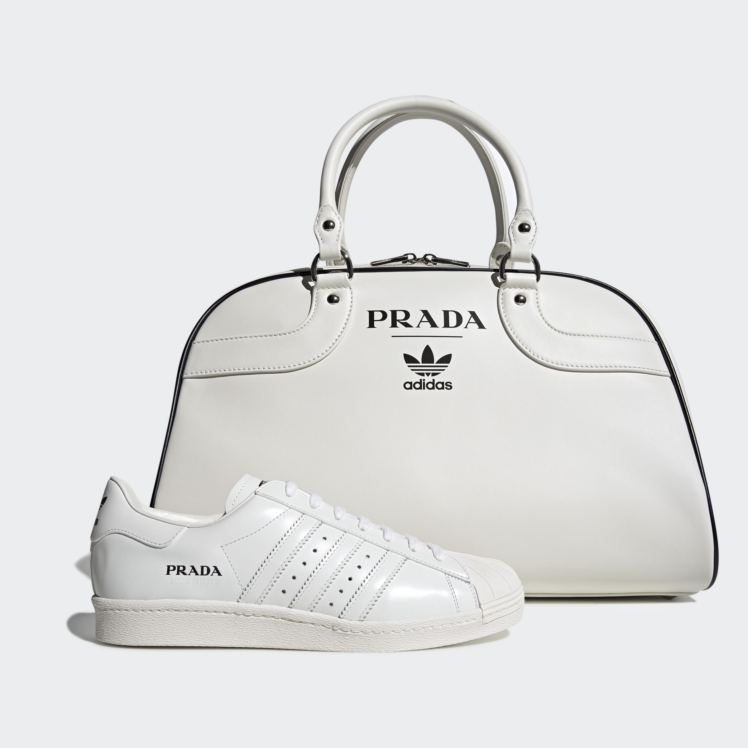 Dar permiso progresivo Psicológico  Prada and Adidas release limited edition Superstar trainers and bowling bag  - i-D