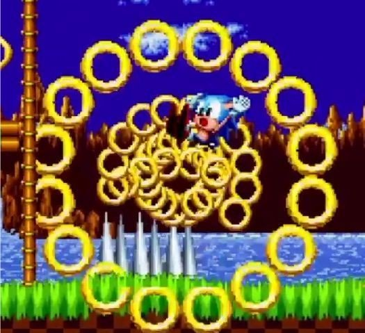 Sonic collects rings not coins, Trammel....