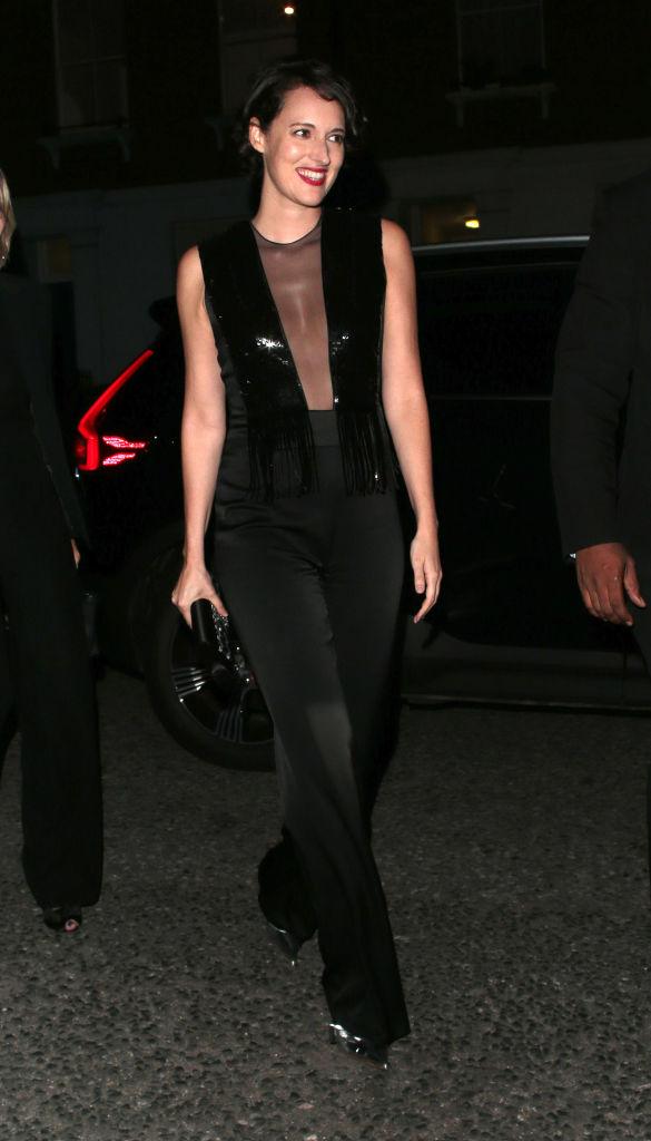 Phoebe Waller Bridge wearing a jumpsuit