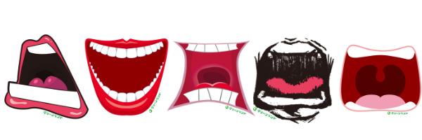Stiker teriak yang disediakan Greenland Park di Jepang.