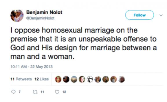 A 2013 tweet from Benjamin Nolot. Screenshot via Open Democracy