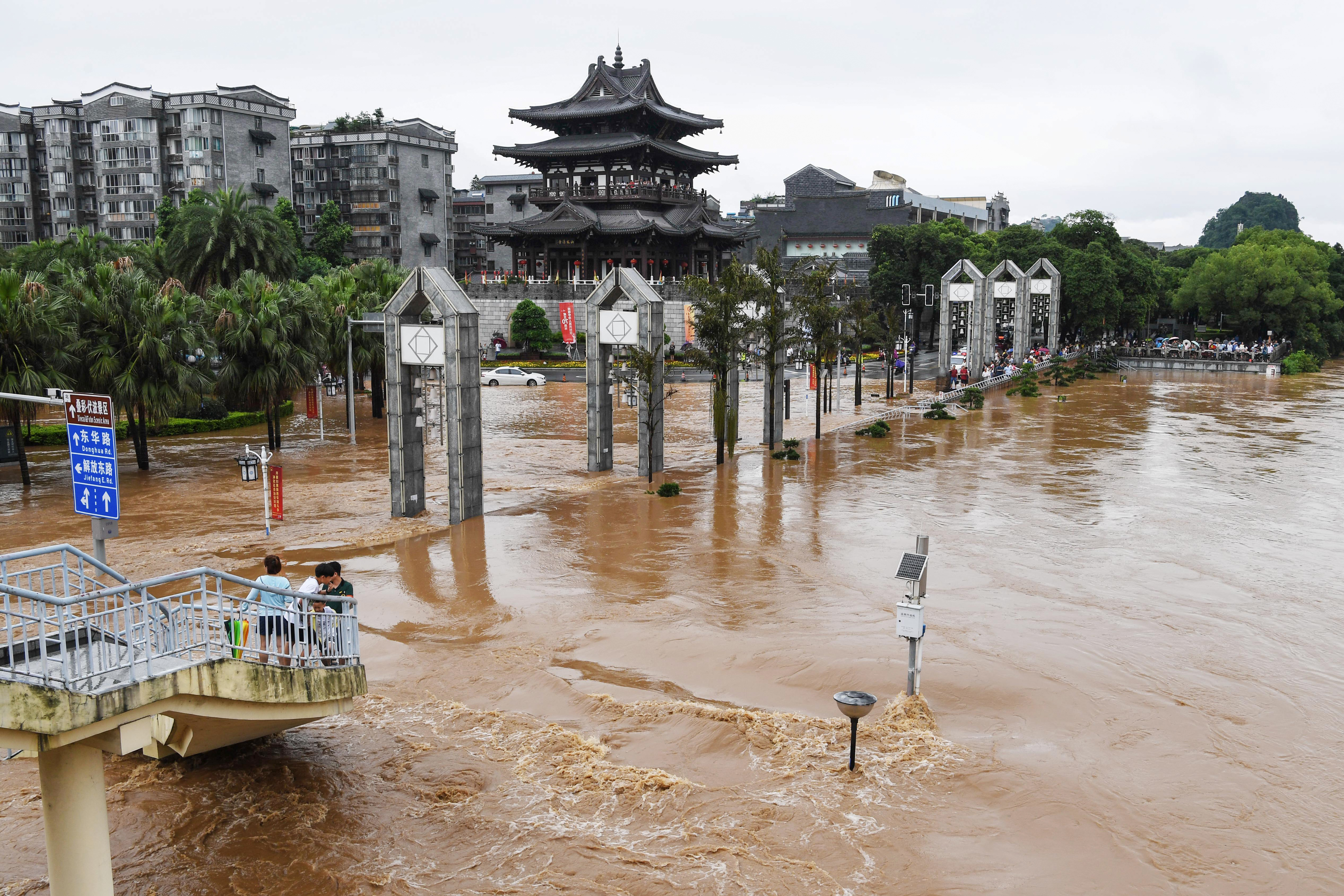 Floods in Guilin, China