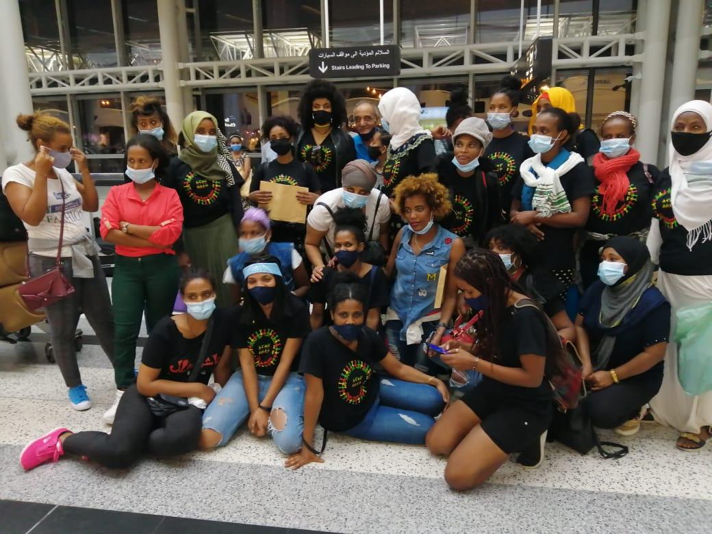 Ethiopian women return home from Lebanon