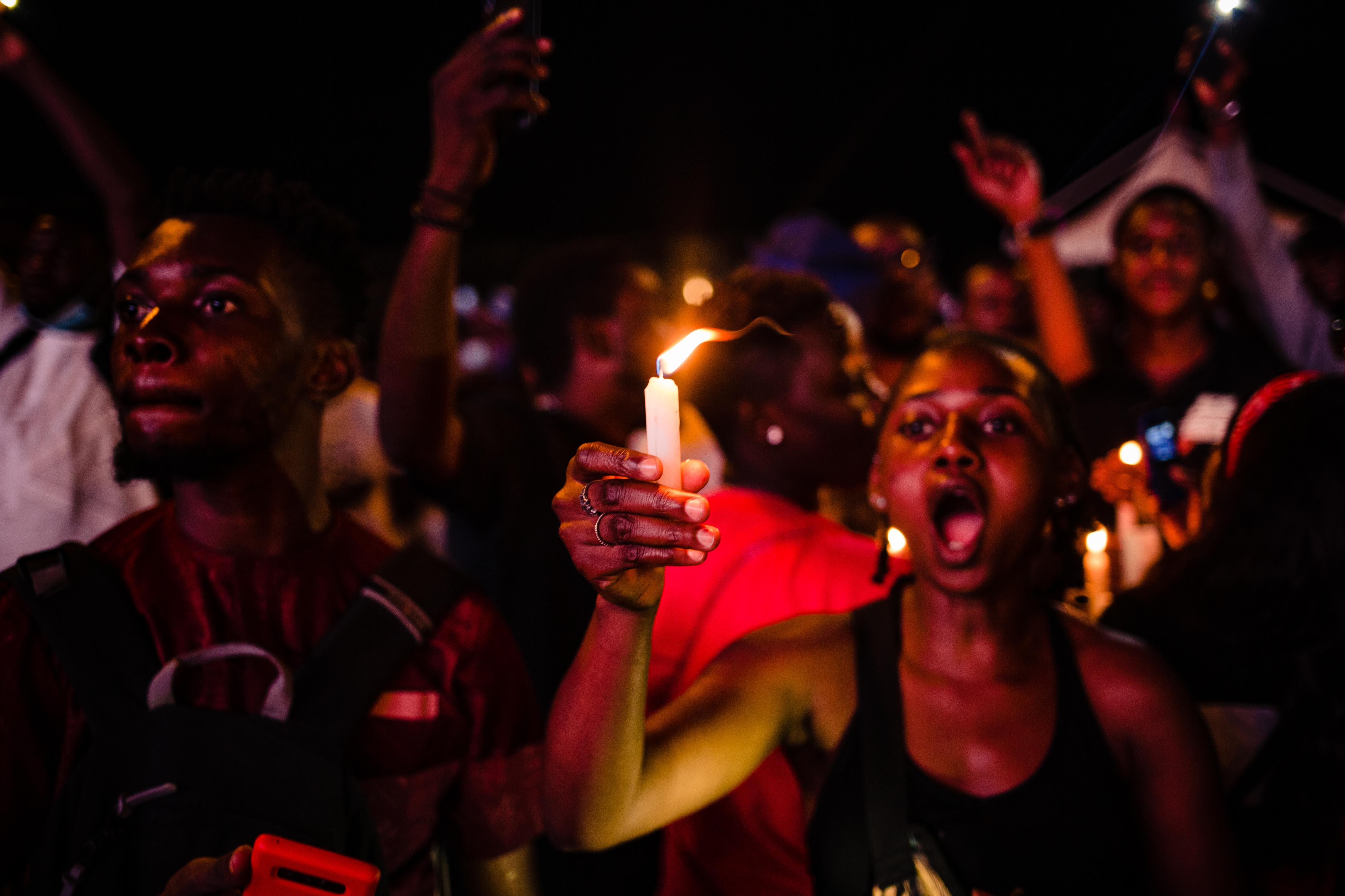 Protestors in Nigeria