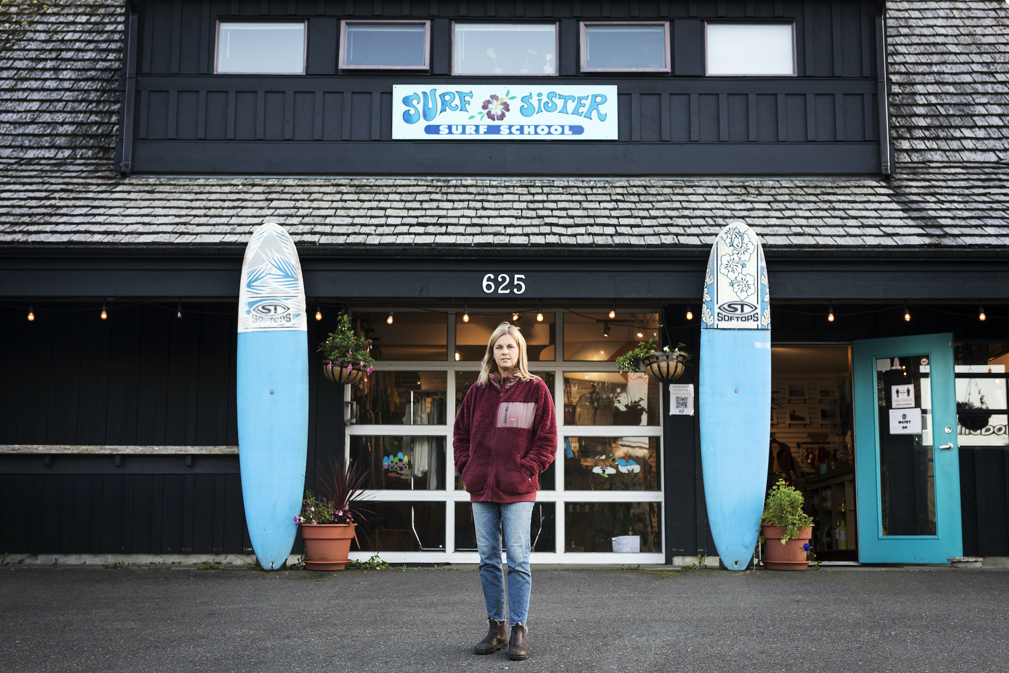 Krissy Montgomery, owner of Surf Sister, an all-female-instructor surf school in Tofino