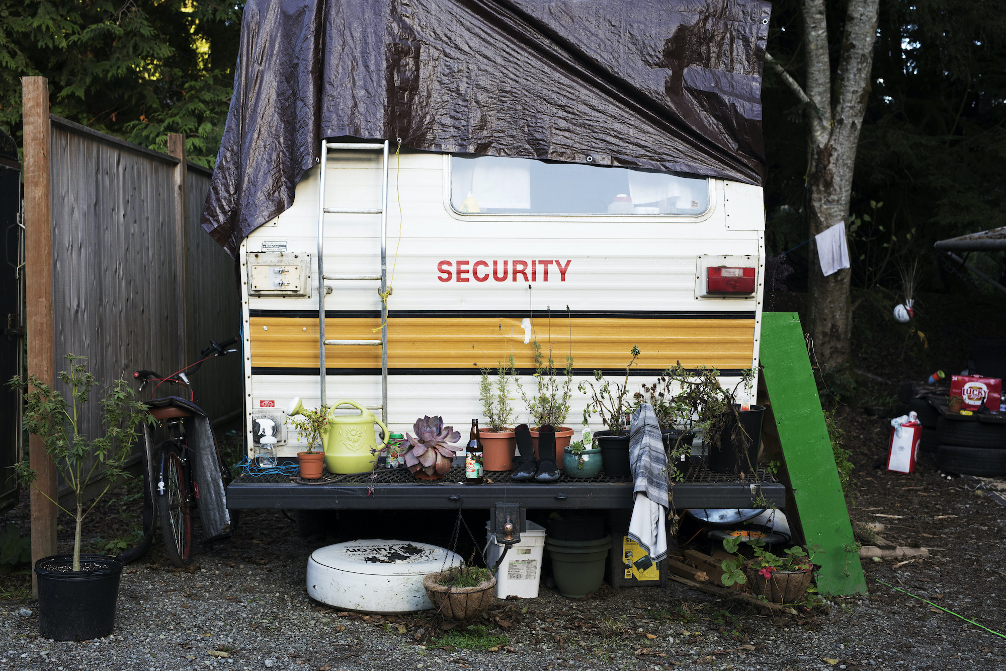 Many Tofino residents have made a home within Crab Apple Campground due to lack of housing