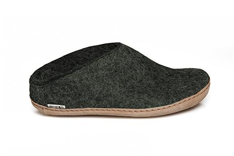 Forest green Glerups slippers