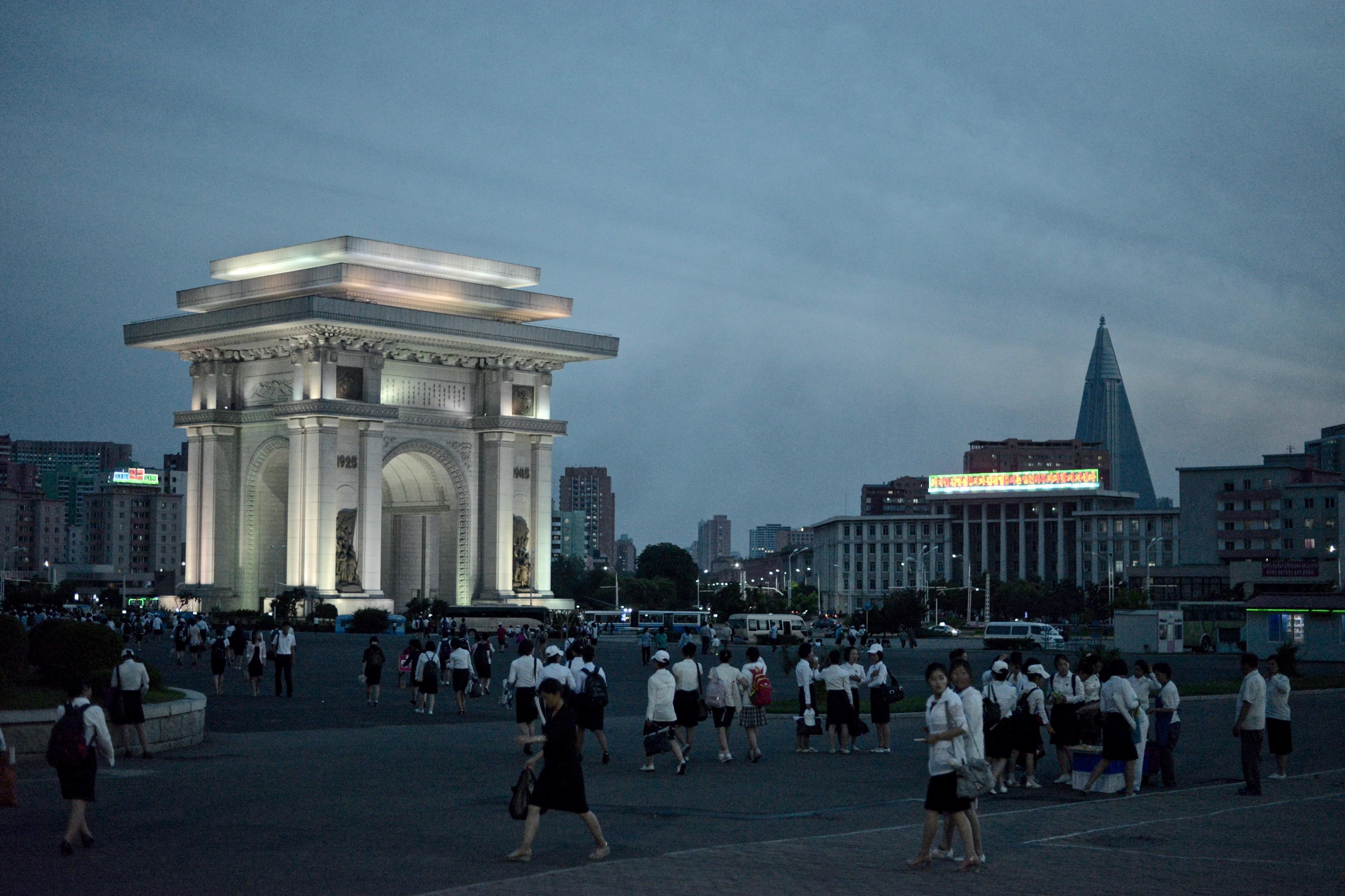 North Korea Night Time