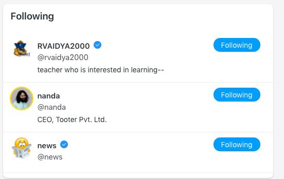 tooter twitter India social media