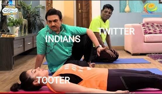meme tooter twiter India social media