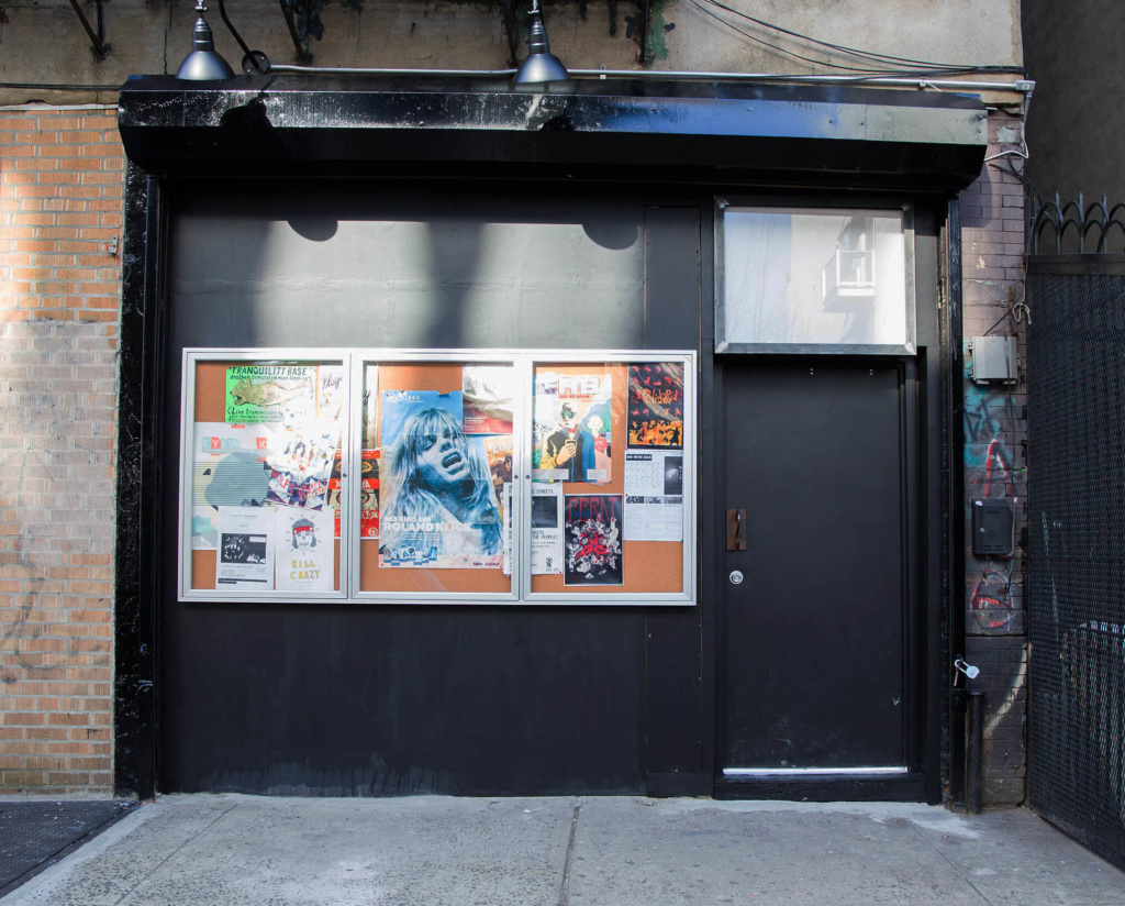 The still bodega-esque exterior of Spectacle Theater.