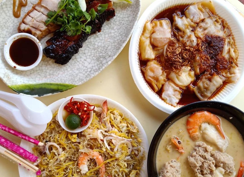 Empat hidangan kaki lima. Foto: Ye Qian Wei.